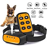Queenmew Collares Antiladridos, Collar Anti-Ladridos con Spray AutomÁTico para Perros,...