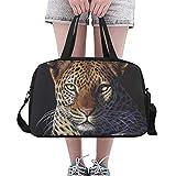 N\A Herren Sporttasche Roar Fierce Animal Beast Wilder Leopard Yoga Gym Totes Fitness Handtaschen...