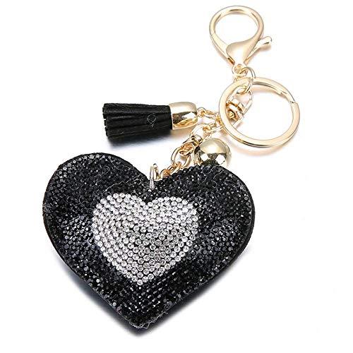 HUAHUA Llaveros Bolsa de Cuero de la PU Llavero de Chicas románticas Diseño Pendiente de la Llave del corazón Cadenas Llavero del Regalo