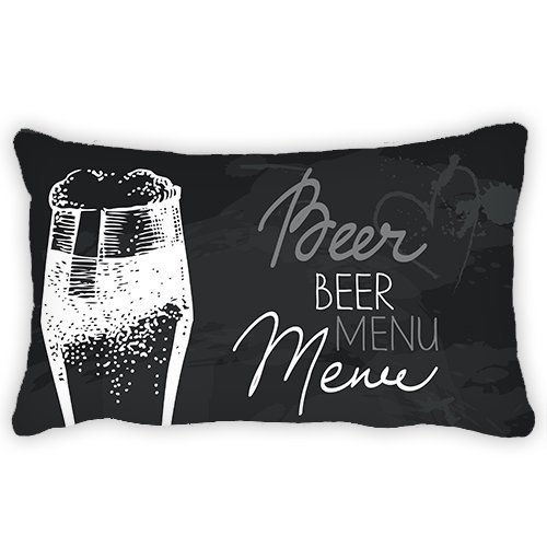 Cerveza tema personalizado carta 'si estás potable a olvidar' funda de almohada cojín (13x 18cm para Festival Decoración de la sala de sofá silla sofá silla