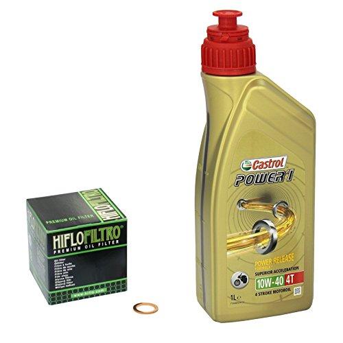 Castrol power1 (10W - 40 huile de yamaha yZF 125 r entre-temps, 08-14 hiFlo filtre à huile et joint d'étanchéité