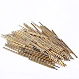 Perpercy Spring Test Probes, 100PCS 0.68mm Spring Test Probe Round Pogo Pin Tools for PCB Board Round Pogo Pin Tools, Full Stroke 2.65mm