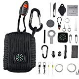 CAMPSNAIL Emergency Survival Kit Grenade - 25 Accessories First Aid Kit Survival Wrapped in 550 lb...