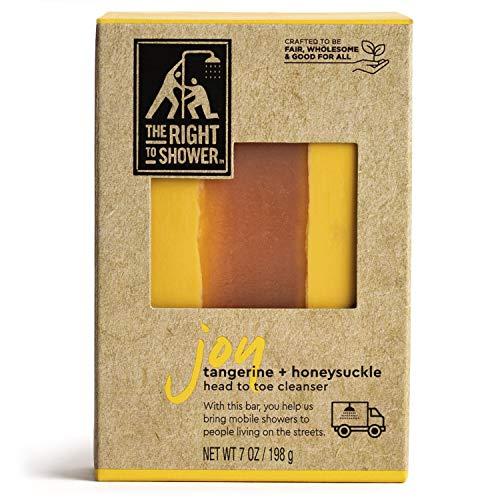 The Right To Shower Joy Shampoo Bar amp Bar Soap Tangerine and Honeysuckle Vegan 7 oz