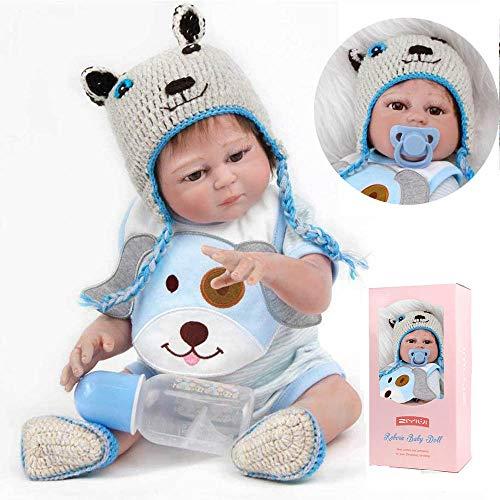 ZIYIUI Simulación DE 20 Pulgadas 50 cm de Cuerpo Completo de Silicona Muñecos bebé Reborn Baby Doll Princess Girl Bath Gift Playmate