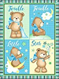 Twinkle Little Star Bears Pre-Quilted Baby Panel 16