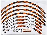 Ecoshirt DV-DQHO-SG6J Pegatinas Stickers Llanta Rim DT Swiss Syncross Xr25 MTB Downhill, Naranja 29'