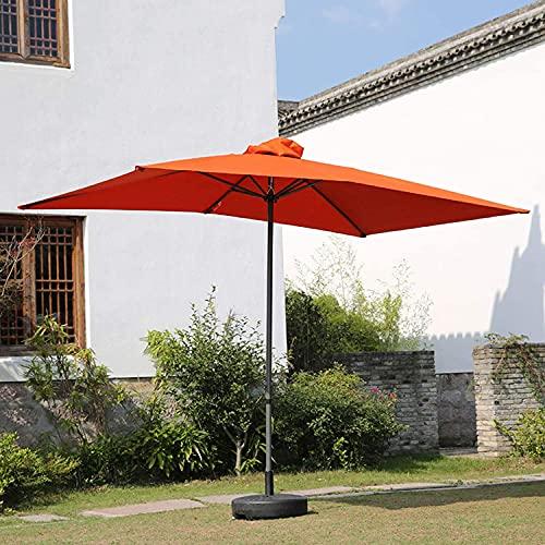 Sombrilla rectangular para patio, sombrilla para mesa de patio, sombrilla para patio con manivela / sistema de ventilación, tres colores, ideal para espacios domésticos / comerciales, 9,8 pies x 6,5
