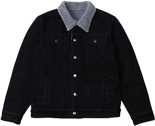Men's Sherpa Fleece Lined Denim Jacket Trucker Winter Jean Jacket Cowboy Coat