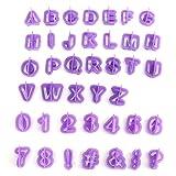 Drawihi, set di 40 stampi per dolci a forma di lettere dell'alfabeto, con manico, utensili...