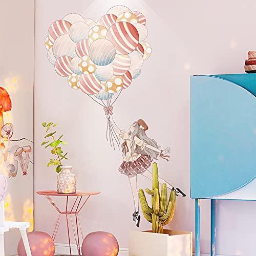 DSSJ Decoración de habitación de Princesa para niña, Fondo de cabecera, Red de Pared, diseño de Dormitorio Rojo para niñas, Pegatinas de Papel de Pared Autoadhesivas