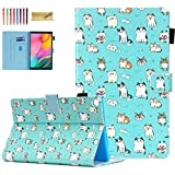 Dteck Galaxy Tab A 10.1 Case 2019 Tablet SM-T510/T515, [Vibrant Colors Design] Slim PU Leather Folio Stand Cover with Magnetic Clasp for Samsung Galaxy Tab A 10.1 Inch SM-T510, Cute Cats