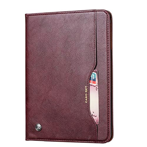 GLXC AYDD Knead Skin Texture Horizontal Flip Leather Case for Galaxy Tab A 10.1 2019 T515 / T510, with Photo Frame & Holder & Card Slots & Wallet(Black) (Color : Wine Red)