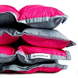 SensaCalm Small Weighted Blanket Pink Raspberry and Volcanic Gray, 6 lb (for 50 lb Child)