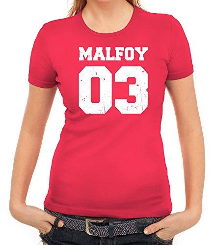 Fanartikel Fan Kult Film Trikot Damen T-Shirt Malfoy 03, Größe: XXL,pink