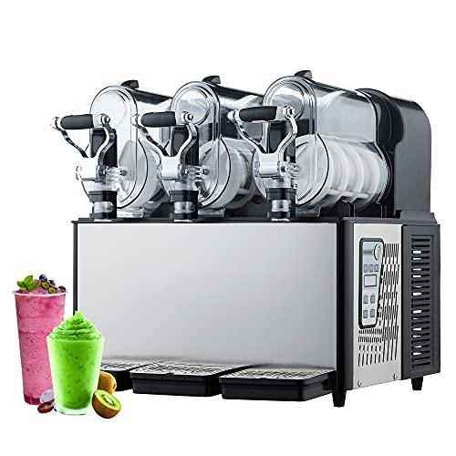 KOOWARM Máquina de granizado de Hielo Comercial,Máquina automática de Bebidas congeladas Margarita,Máquina para Hacer Bebidas congeladas con batidora de Bebidas 3-9L autolimpieza