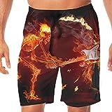 Photo de Pantalons de Plage pour Hommes de Bain drôles pour Hommes Rock N Roll Pantalon d'eau décontracté à séchage Rapide pour Femmes, L par
