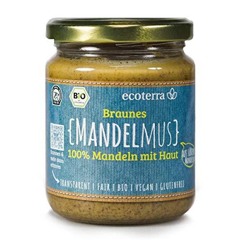 ecoterra - Mandelmus braun | 100% Mandeln | Bio | Vegan