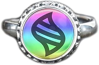 calhepco Solid 925 Sterling Silver Ring Pikachu Pokemon Mega Stone for Women Rings Wedding Adjustable