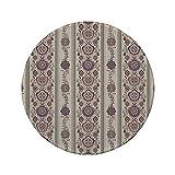 Rutschfreies Gummi-rundes Mauspad florales nahöstliches osmanisches mittelalterliches authentisches dekoratives arabeskes Muster getrocknete Eierschalenrose 7.9