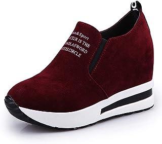 CYBLING Women's Hidden Heel Wedges Sneakers Casual Platform Slip On Loafers Flat Walking Shoes
