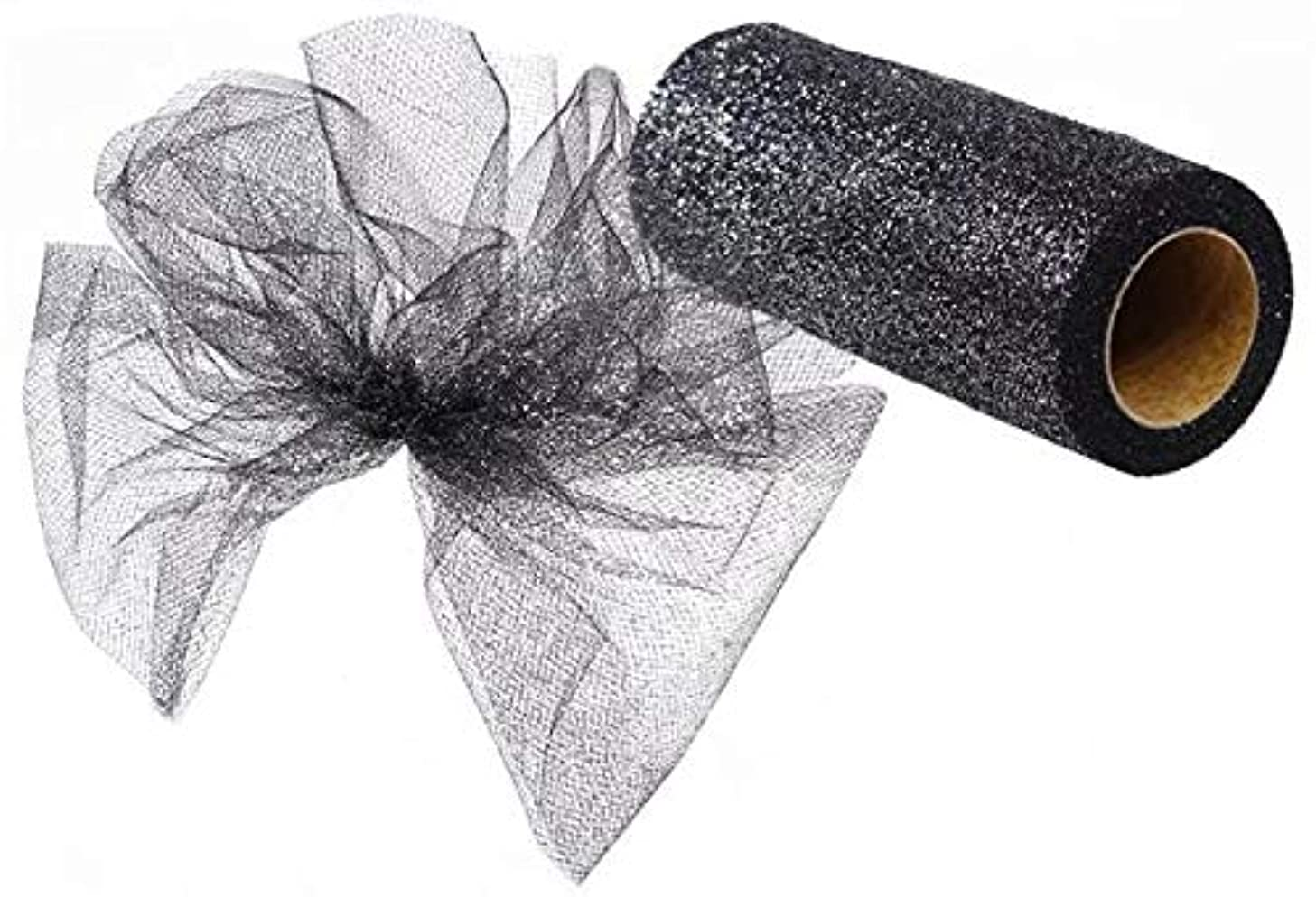 Glitter Tulle Ribbon Spool - 6