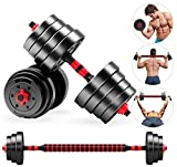Maerd Dumbbells Adjustable 44lbs 66lbs Weight Set Dumbbells Barbell Lifting Combination for Gym Home Body Building Training (66)