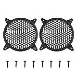 X AUTOHAUX Lot de 2 grilles de Protection en Maille pour Haut-Parleur de Voiture 15,2 cm