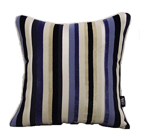 Le coussin High-End moderne Fringe Cut Velvet Sofa et Pillow - Bleu
