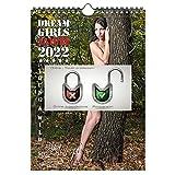 Seelenzauber K2022-4W-00505-D-0 Sexy Nature Girls - Calendario formato A4 per 2022, motivo: foresta erotica
