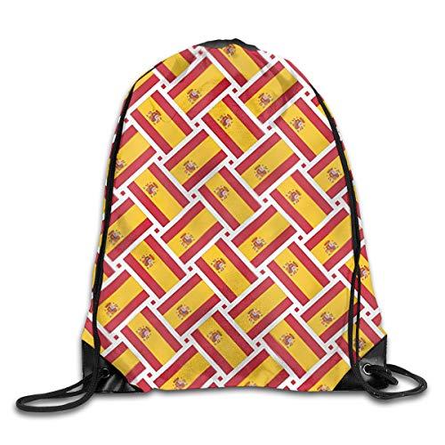 EU Mochila con cordón de Bandera de España para niños Bolsa de Saco de Viaje de Playa de Verano para niños