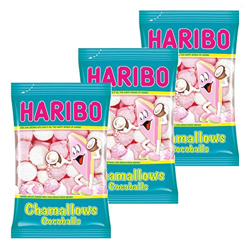 Haribo Chamallows Cocoballs, 3er Set, Schaumzucker, Marshmallows, Mausespeck, 3 Beutel zu je 200 g