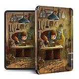 MoHHoM Cubierta Kindle Impresa - Cute Style Repairman Creative Auto-Wake Paperwhite123 Kpw4 Amazon Oasis 2/3 Reader Funda Protectora De Estilo Simple, Estilo A, para Dp75Sdi