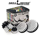 Drillbrush Automotive Soft White Drill Brush - Leather Cleaner - Car Wash Kit - Car Cleaning Supplies - Wheel Cleaner Brush - Car Detailing Kit – Car Carpet - Interior, Vinyl, Seat Cleaner
