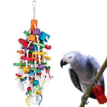 KinTor Jouet à mâcher pour Oiseau Grande Taille Moyenne pour Perroquet, Ara, cacatoès, éclectus Amazon