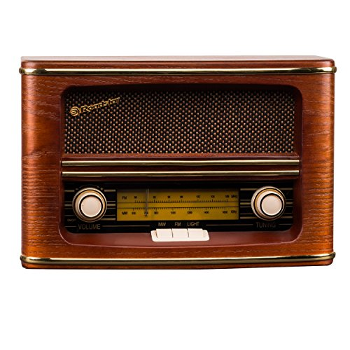 ROADSTAR HRA-1500/N Radio Retro de Madera AM/FM.