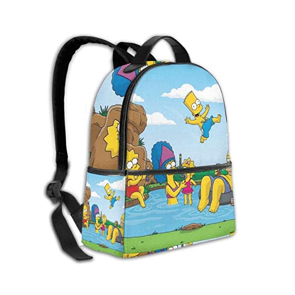 51KJTsDisCL. SS600  - Cartoon The Simpsons - Mochila para Estudiantes, Unisex, diseño de Dibujos Animados, 14,5 x 30,5 x 12,7 cm