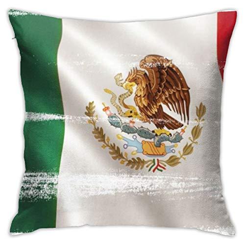 Kissenbezüge Kissenbezüge Dekoration Bark Mexico Flag Hintergrund mit Stoff Textur. 3D Illustration. auf dem Schlafsofa 45X45 cm