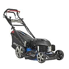 HYUNDAI bensin gräsklippare LM5102G ES (elstart, variabel hjuldrift, skärbredd 51cm, mycket stark 4.2kW / 5.7hp Hyundai motor, 65L catcher korg, mulcher, bensin gräsklippare självkörande)