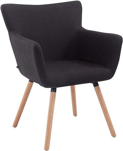 CLP Chaise de Salle à Manger Antwerpen Tissu I Chaise Design Retro Scandianve Rembourrée Dossier et Accoudoirs I Faut...