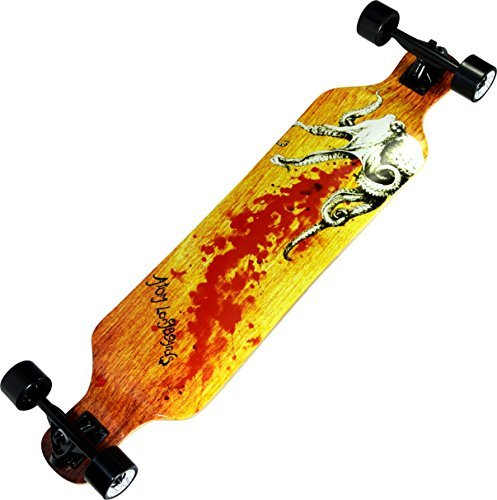 Atom Longboards Atom Drop Deck Longboard - 39, Octopus by