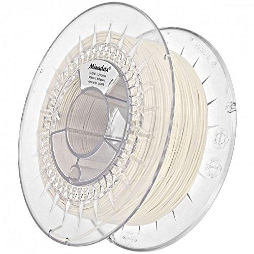 Minadax 0,5kg qualità premium 2,85mm 3mm Filament Flex Bianco per stampante 3d prodotto in Europa