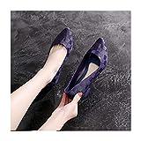 DSMGLRBGZ Botas Lluvia Mujer 36-40 Moda Hidrófugo Antideslizante Caucho Chanclos Superficial Adulto Zapatos De Agua Sandalias De Tacón Bajo,Azul,36