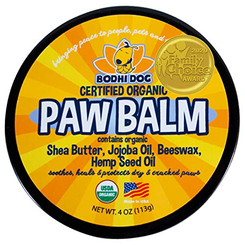 Organic Paw Balm for Dogs & Cats | All Natural Soothing & Healing for Dry Cracking Rough Pet Skin | Protect & Restore Cracked and Chapped Dog Paws & Pads | Better Than Paw Wax 4oz