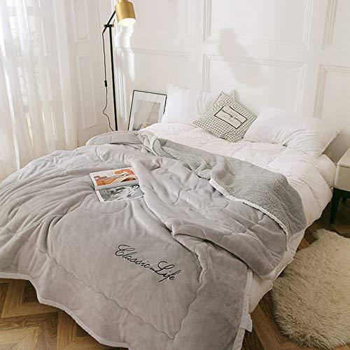 WHDJ Manta Gruesa, mantén la Manta Lisa cálida con Forro Polar, Lavable, no se decolora, Manta Duradera para Dormitorio y sofá