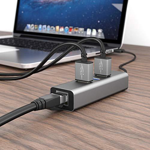 KabelDirekt – Cat 8 Netzwerkkabel – 5m – 40 Gigabit Ethernet, LAN & Patch Kabel (Cat 8.1 geeignet für Highspeed Netzwerke, Switch, Router, Modem, PC mit RJ45 Eingang, schwarz)
