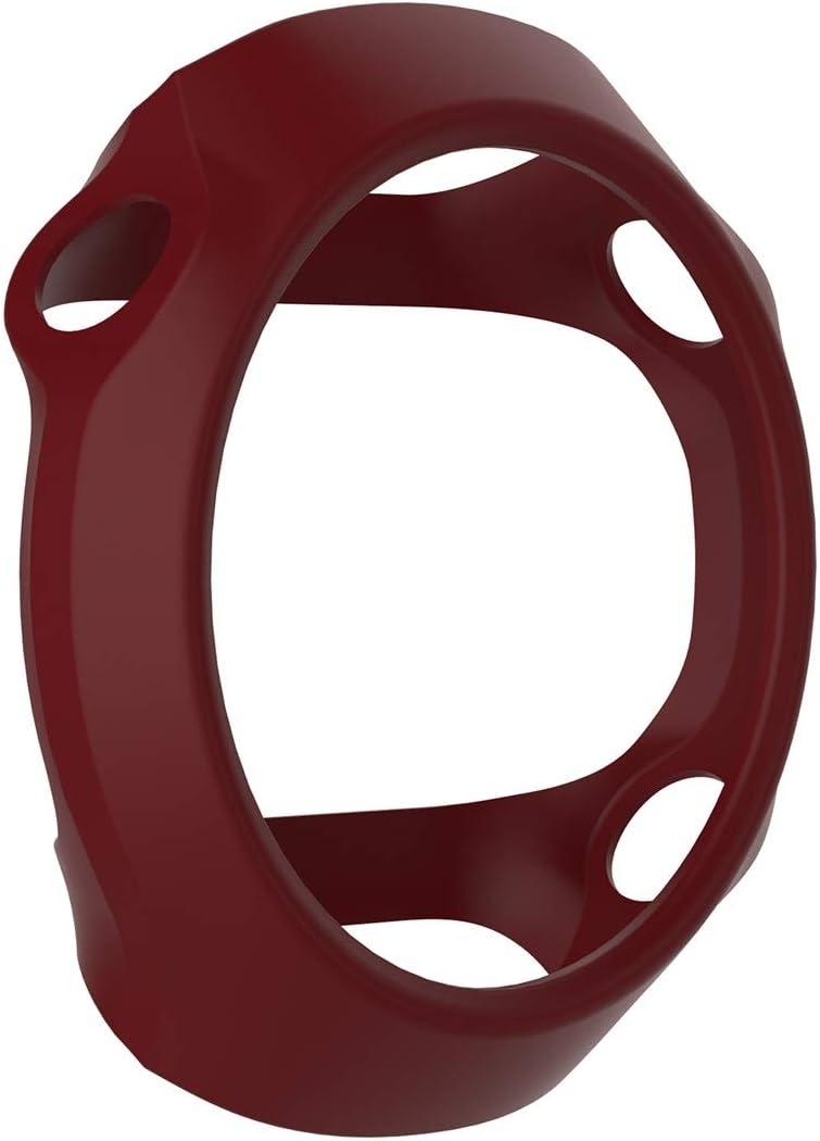 WATCHCASE/Funda Protectora de Silicona de Reloj Inteligente para Garmin Forerunner 610, La decoración de la Moda Protege el Marco del re (Color : Brown)
