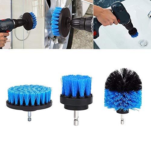 CAheadY 3-Größen-Reinigungsset für kabellose Power Scrubber-Bohrbürsten im Badezimmer A Blue
