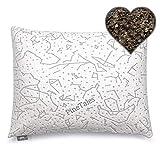PineTales, Premium Organic Buckwheat Pillow with Washable Super Soft & Skin Friendly Designer Bamboo Pillowcase, Standard Size (20' x 26')