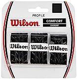 Wilson - Overgrip para raqueta de tenis ( pack de 3 grips ), color negro